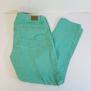 American Eagle Stretch Skinny Jeans (turquoise)